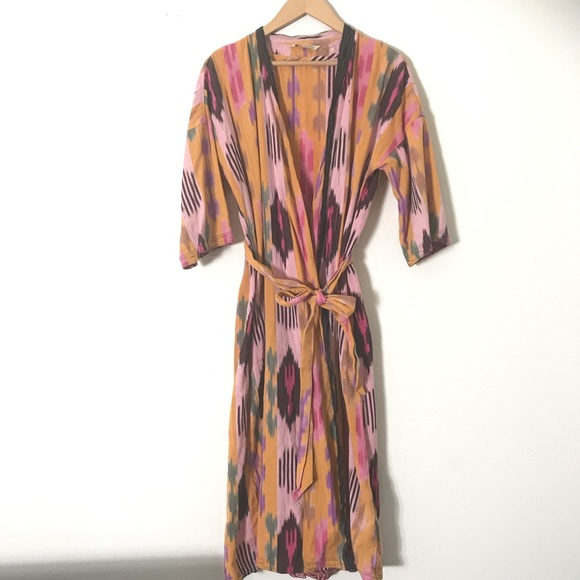 Soft Surroundings Jackets & Blazers - Soft Surroundings Multi-Color Print Kimono PS/PM